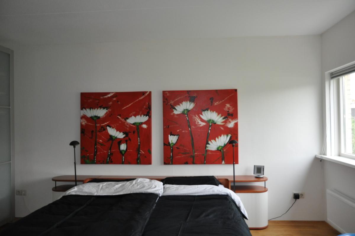 master bedroom vakantiewoning in Friesland aan het water in Koudum